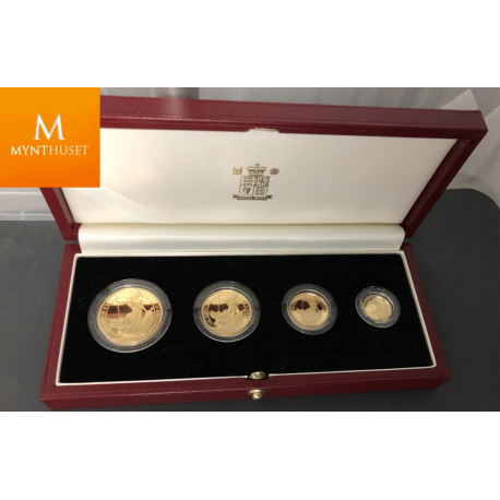UK: Britannia gold proof set 1,85 oz gull