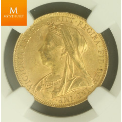 UK Sovereign 1900 NGC MS62