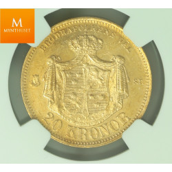 Sweden 20 kronor 1876 ST NGC MS63 RARE