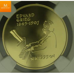 1993 Norway 1500kroner gold Edvard Grieg NGC PF69