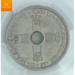 1 krone 1939 kvalitet MS64