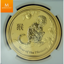 2016P Australia 2 oz Gull Lunar Series 2 Year of the Monkey NGC MS70