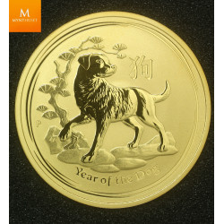 2018P Australia 1 oz Gull Lunar Series 2 Year of the DOG kvalitet BU i kapsel