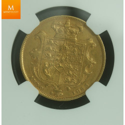 Great Britain 1833 William IV Gold Sovereign kvalitet 1/1+ , NGC XF40