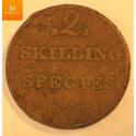 2 skilling Species 1834 Synlig årstall
