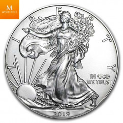 USA 1 OZ 2019 silver EAGLE .999 kvalitet BU