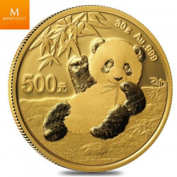 China 500 Yuan Panda 30 gram 999  gold coin