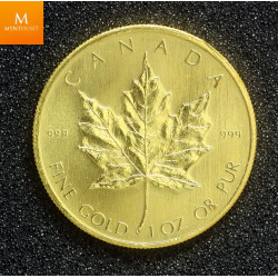 Canada gullmynt 1 oz 999 Maple Leaf 1980 kvalitet 0/01