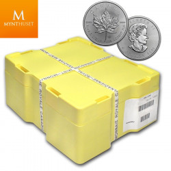 «BESTILLINGSVARE» CANADA 2021 SILVER MAPLE LEAF 500 X 1 OZ MONSTER BOX BU