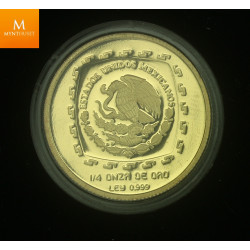 Mexico 25 Pesos 1996 Sacerdote kvalitet proof 1/4 oz gull 999