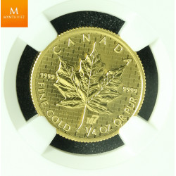 Canada 2005 GOLD 10 dollar Maple Leaf M7 Privy kvalitet Proof like NGC SP69