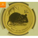 Lunar Series II. 100 Dollar 2008 Year of the Mouse MS69