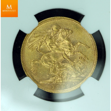 Great Britain 1 sovereign 1893 kvalitet 01+ , NGC MS62