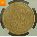 20 dollar 1857 AU50
