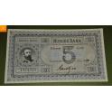 Oscar Seddel i kvalitet 0 ! 5 kroner 1879 Knudtzon kvalitet 0