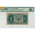 5 kroner 1907 B kvalitet 0 gradert til MS66EPQ RR seddel