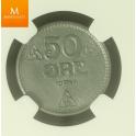 50 øre 1944 Z kvalitet MS63