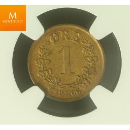 1 øre 1906 kvalitet MS64 BN