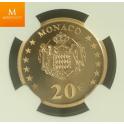 Monaco : 20 Euro 2002 Gradert PF69