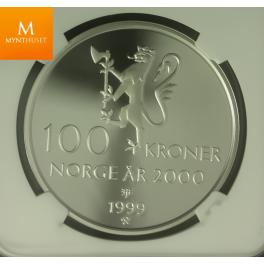 100 kroner 1999 Millenium kvalitet PF69 UCAM